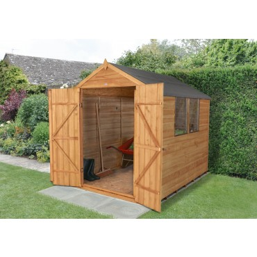 8' x 6' APEX SHED - DOUBLE DOOR