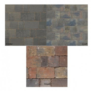 BRADSTONE MONKSBRIDGE BLOCK PAVERS MIXED SIZE PACK