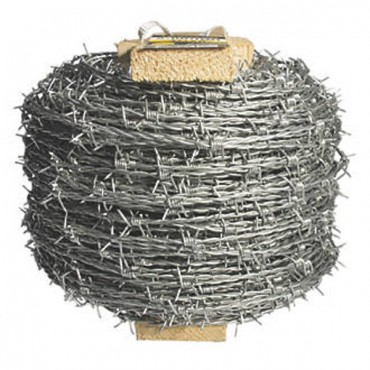 "GREEN ECOVER MILD STEEL BARBED WIRE 2.50 X 4"" 200M BRAVO"