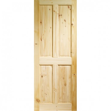 "Internal Knotty Pine Victorian 4 Panel  1981 x 686 x 35mm (27"")"