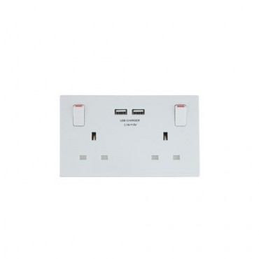 DOUBLE SWITCH SOCKET WITH USB PM1424