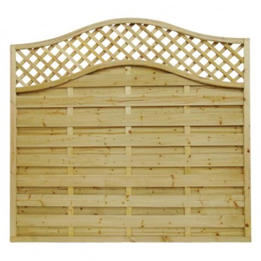 OMEGA LATTICE TOP FENCE PANEL