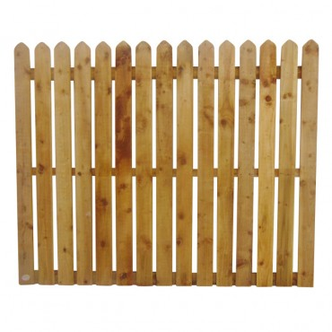 "100MM (4"") PALING POINTED PICKET FENCE PANEL 25MM GAP - 1.5 (5FT) X 6FT (1.83m)"