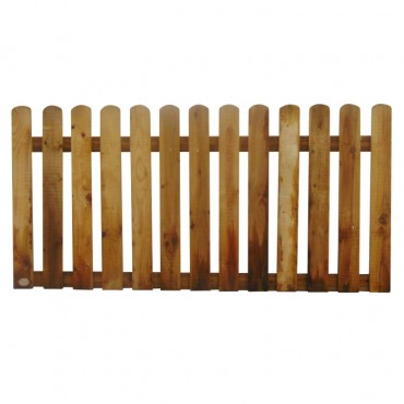 "100MM (4"") PALING ROUNDED PICKET FENCE PANEL 50MM GAP - 0.9 (3FT) X 6FT (1.83m)"