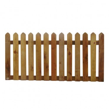 "100MM (4"") PALING POINTED PICKET FENCE PANEL 50MM GAP - 0.9 (3FT) X 6FT (1.83m)"