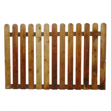 "100MM (4"") PALING ROUNDED PICKET FENCE PANEL 50MM GAP - 1.2 (4FT) X 6FT (1.83m)"