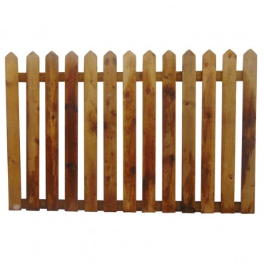 "100MM (4"") PALING POINTED PICKET FENCE PANEL 50MM GAP - 1.2 (4FT) X 6FT (1.83m)"