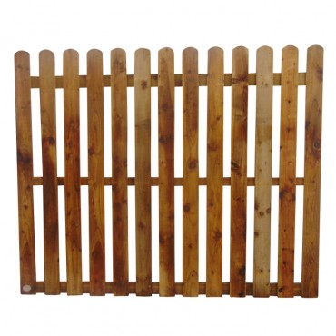"100MM (4"") PALING ROUNDED PICKET FENCE PANEL 50MM GAP - 1.5 (5FT) X 6FT (1.83m)"