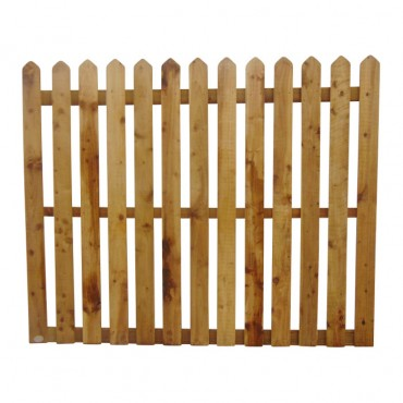 "100MM (4"") PALING POINTED PICKET FENCE PANEL 50MM GAP - 1.5 (5FT) X 6FT (1.83m)"