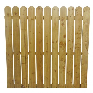 "150MM (6"") PALING ROUNDED PICKET FENCE PANEL 25MM GAP - 1.8 (6FT) X 6FT (1.83m)"