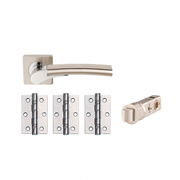 """ULTIMO SQ DOOR PACK SMART LATCH + 3X3"""" SSS BUTTS DH003650-SQ-SMART-INTERN"""