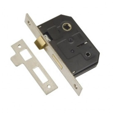 NP 63mm Bathroom Mortice Lock (Clam Packed) DH007178