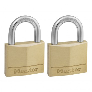 2x40MM BRS PADLOCKS MAS140EURT