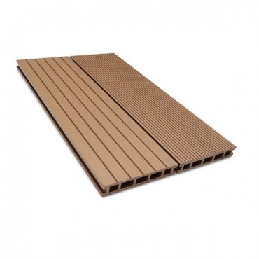 MC COMPOSITE DECK BOARD 150MM X 25MM LIGHT BROWN