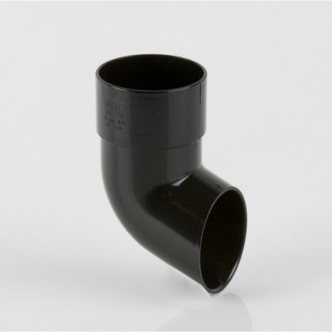 BR216 ROUND DOWNPIPE SHOE BLACK