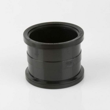 BS406 SOIL PIPE CONNECTOR DOUBLE SOCKET BLACK