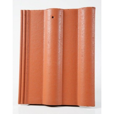 LAGAN DOUBLE ROLL ROOF TILE RED