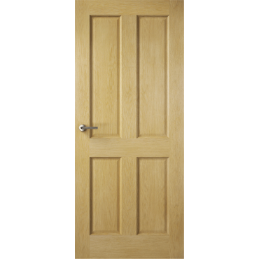 SPECIAL OFFER OAK 4 PANEL PRE FINISHED FD30 FIRE DOOR 1981MM X 762MM