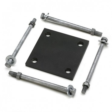 TREX BLACK ALUMINIUM PLATE & HARDWARE TO BE USED WITH POSTS