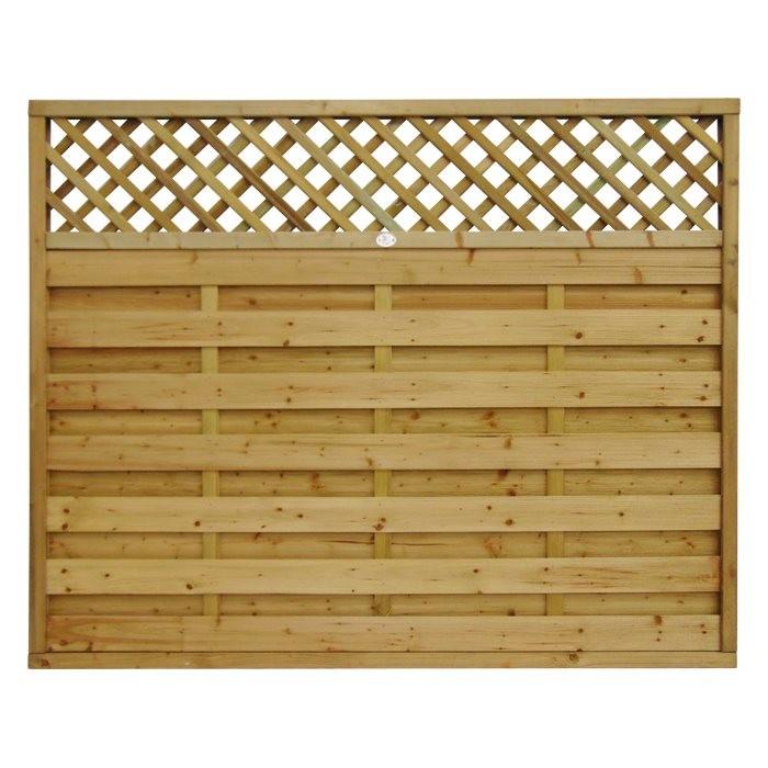 Horizontal Lattice Top Fence Panel Panels Fencing