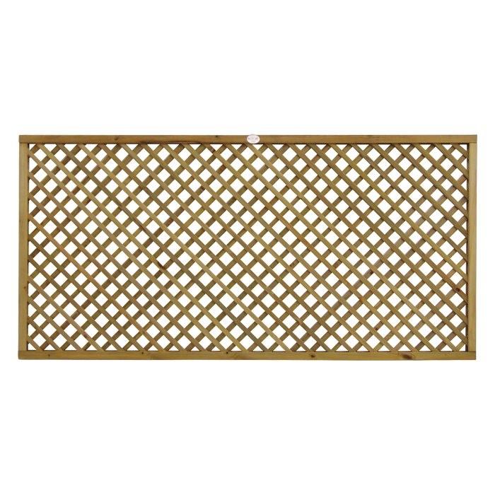 Diamond Lattice Flat Fence Panel Panels Fencing