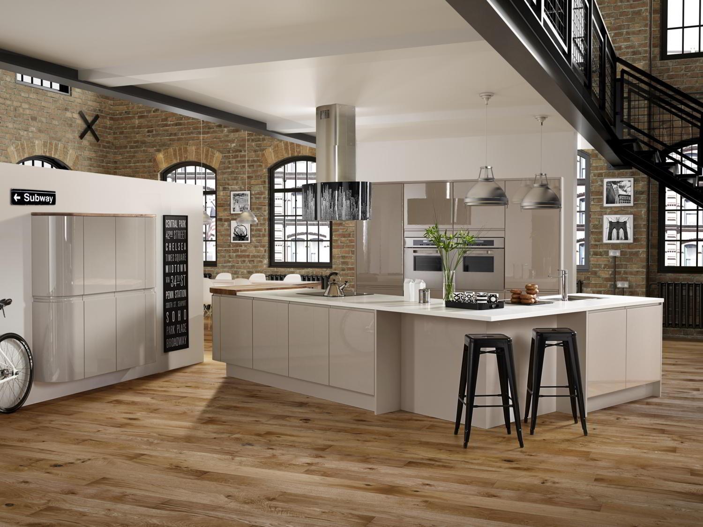New York Gloss Cashmere Kitchens Kitchens Manningham