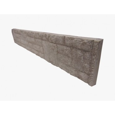 "12"" ROCK FACED CONCRETE GRAVEL BOARD"