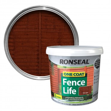 ONE COAT FENCE LIFE 5LTR RED CEDAR 38290