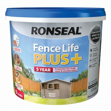 FENCE LIFE PLUS WARM STONE 5LTR