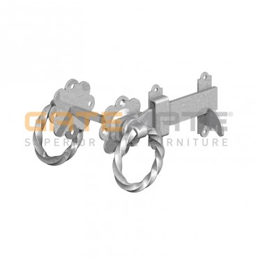 """BIRKDALE GM TWISTED RING GATE LATCHES 6"""" 150MM GALV P72"""