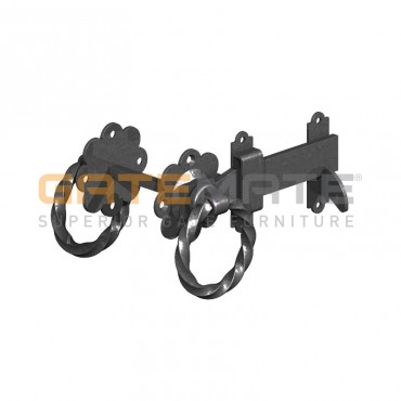 "BIRKDALE GM TWISTED RING GATE LATCHES 6"" 150MM E/BLAC P72"