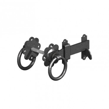 """BIRKDALE GM RING GATE LATCHES 6"""" 150MM E/BLAC P72"""