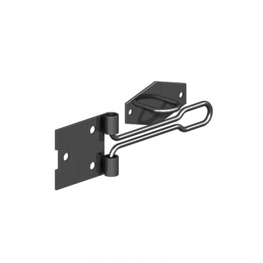 "BIRKDALE GM WIRE PATTERN HASP & STAPLE 4"" 100MM E/BLAC P76"