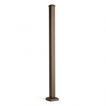 TREX BROWN ALUMINIUM POST WITH CAP & SKIRT 63MM X 63MM HORIZONTAL