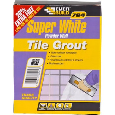 704 POWDER WALL TILE GROUT 1KG GROUT1