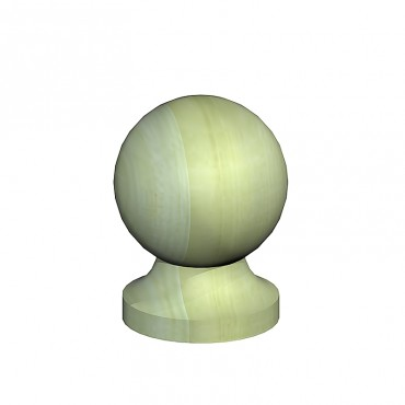 """BIRKDALE POST BALL & COLLAR FINIAL 4"""" 100MM GREEN TREATED"""