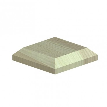 """BIRKDALE POST CAPS FOR 4"""" POSTS (R9) 120X120X26MM GREEN TREATED"""