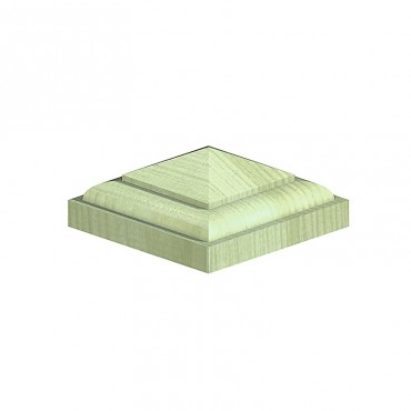 """BIRKDALE POST TEMPLES FOR 4"""" POSTS(R13) 126X126X50MM GREEN TREATED"""