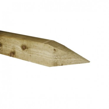 POINTED FENCE POST GREEN TREATED 2100MM X 75MM X 75MM