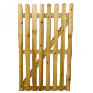 75MM ROUNDED PALING GATE TREATED 900MM (W)