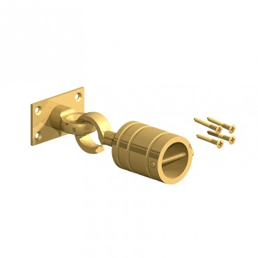 BIRKDALE FM HOOK & EYE ON PLATE 24MM ROPE BRASS