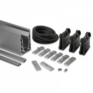 ALUMINIUM 3M FACE MOUNTED KIT FOR 21.5mm GLASS KCV.SIKIT.021