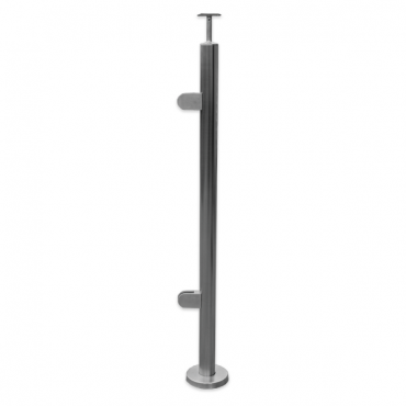 STAINLESS STEEL 316 END POST 900MM HIGH KSS.PRE.900.END FOR DECK HEIGHTS BELOW 600MM