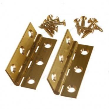 Brass 75mm Butt Hinge (x2) - Dalepax DX40516