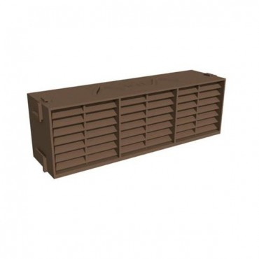 TIMLOC UNDERFLOOR PLASTIC AIR BRICK BROWN