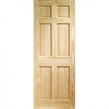 "Internal Clear Pine Colonial 6 Panel  1981 x 711 x 35mm (28"")"