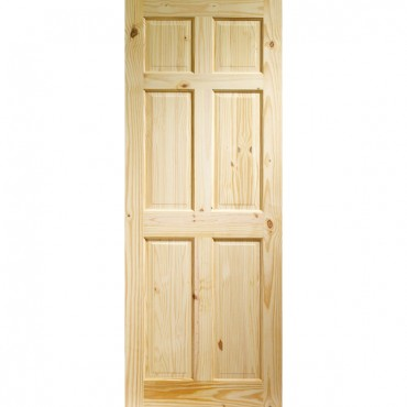"Internal Knotty Pine Colonial 6 Panel  1981 x 610 x 35mm (24"")"