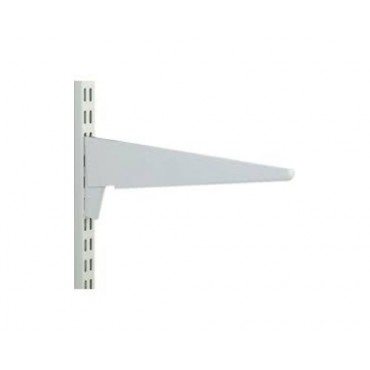 "TWINSLOT BRACKET 18 1/2"" (470MM HEAVY DUTY)  WHITE"