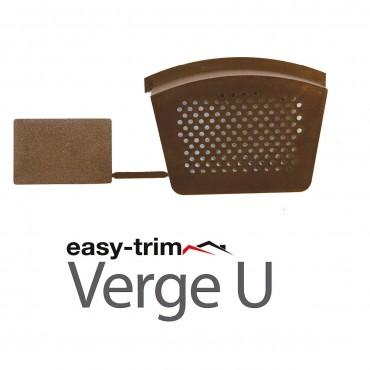 EASYVERGE STARTER & END CAP PACK (2) BROWN DRY VERGE EASYTRIM EASYVERGEU/B/PCK