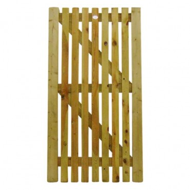 FLAT PICKET GATE 1.8M H X .9M W